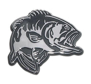 Bass Fish Chrome Car Emblem