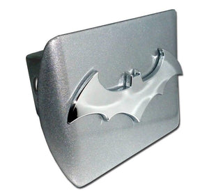 Batman 3D Brushed Chrome Hitch Cover