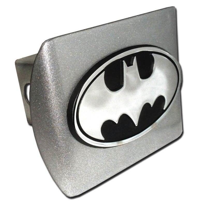 Batman Oval Brushed Chrome Hitch Cover
