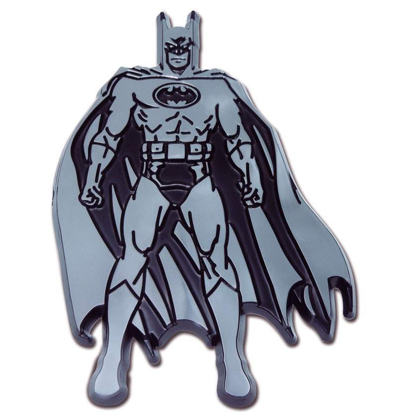 Batman Figurine Chrome Car Emblem