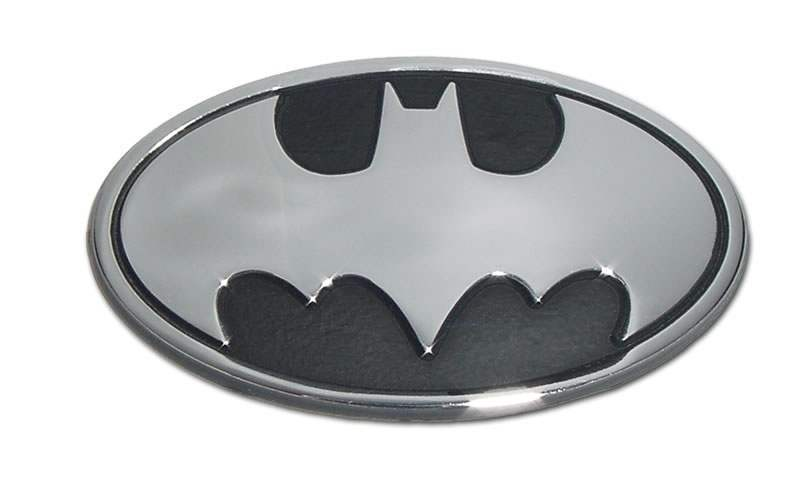 Batman Oval Chrome Car Emblem