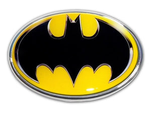 Batman Oval Chrome with Color Car Emblem