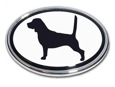 Beagle Chrome Car Emblem