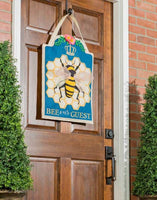 Bee Our Guest Decorative Door Hanger Live