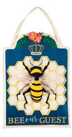Bee Our Guest Decorative Door Hanger