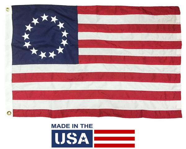Betsy Ross Flag 2x3 Nylon Made in the USA - Historical Flags/Revolutionary War Flags - I AmEricas Flags