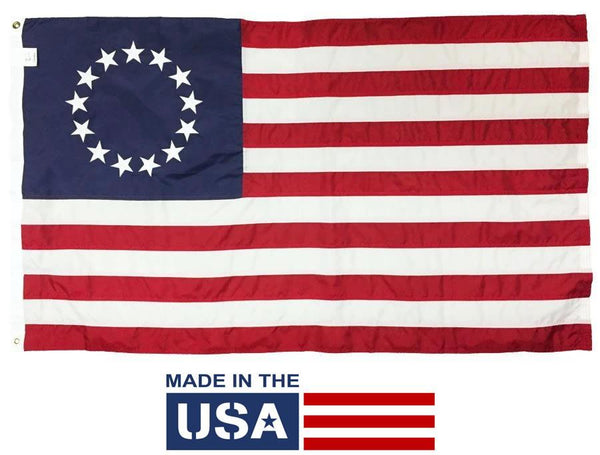 Betsy Ross Flag 3x5 Nylon Made in the USA - Historical Flags/Revolutionary War Flags - I AmEricas Flags