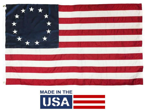 Betsy Ross Flag 4x6 Nylon Made in the USA - Historical Flags/Revolutionary War Flags - I AmEricas Flags