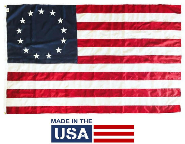 Betsy Ross Flag 5x8 Nylon Made in the USA - Historical Flags/Revolutionary War Flags - I AmEricas Flags