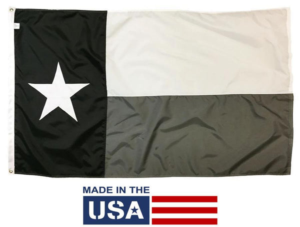 Black, White and Gray Texas Flag 3x5 Sewn Nylon - Texas Flags - I AmEricas Flags