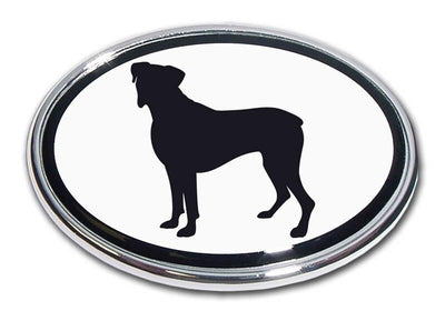 Boxer Chrome Car Emblem