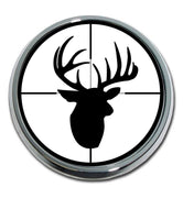 Buck Target Chrome Car Emblem