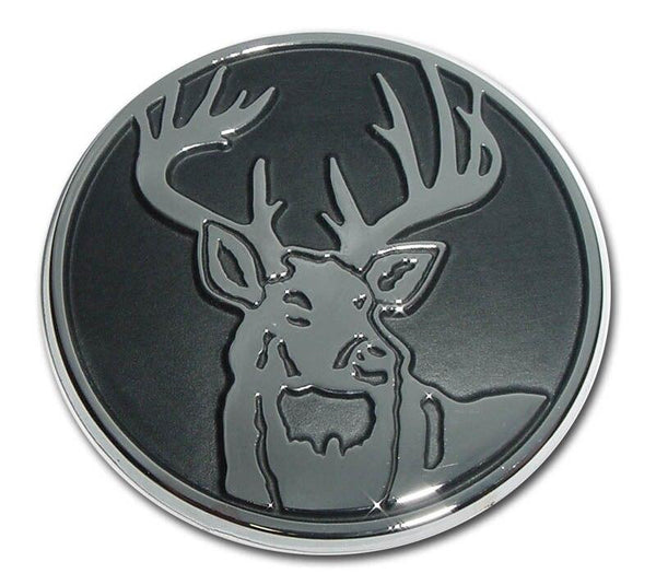 Buck Chrome Car Emblem