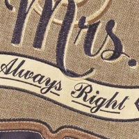 Burlap Mr. and Mrs. Right Double Applique Garden Flag - I AmEricas Flags