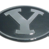 Brigham Young University Black Chrome Emblem - Chrome Car Emblems | Trailer Hitch Covers/Collegiate Car Emblems/Brigham Young University - I AmEricas Flags