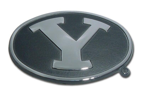 Brigham Young University Black Chrome Emblem