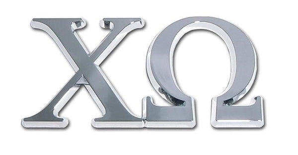 Chi Omega Sorority Chrome Car Emblem