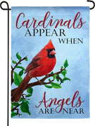 Cardinals Appear Suede Reflections Garden Flag