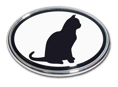 Cat Chrome Car Emblem