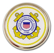 Coast Guard Seal Chrome with Color Car Emblem
