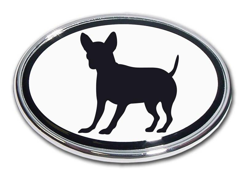 Chihuahua Chrome Car Emblem