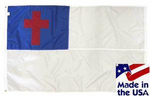 Christian Royal Blue and White Sewn Nylon 3x5 Flag
