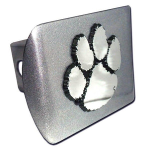 Clemson University Brushed Chrome Hitch Cover