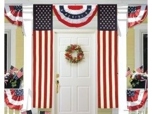 Nylon 50 Star American Flag Pulldown