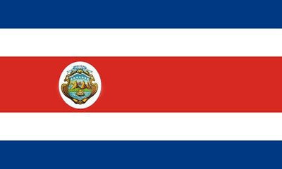 Costa Rica Superknit Polyester 3x5 Flag