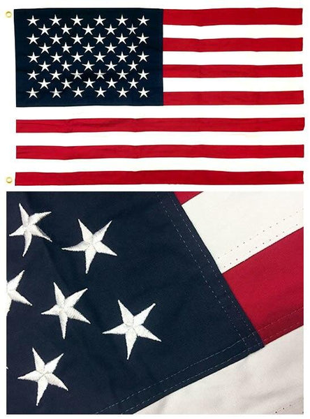 Sewn Cotton American Flags