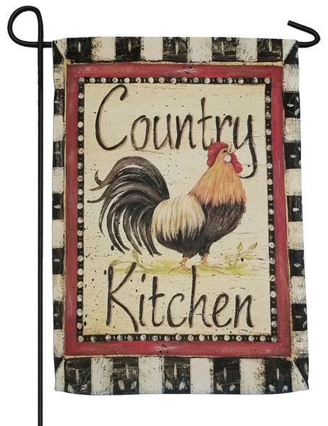 Country Kitchen Rooster Sublimated Garden Flag - I AmEricas Flags