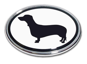Dachshund Chrome Car Emblem