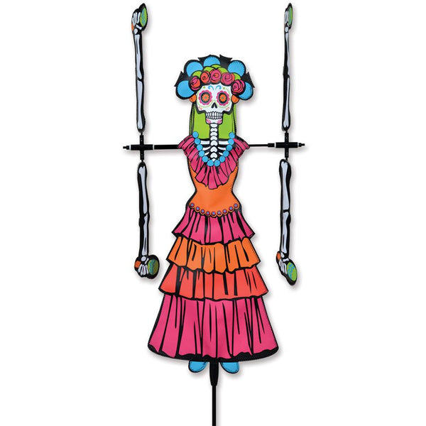 Day of the Dead Woman WhirliGig Wind Spinner