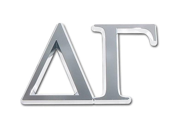 Delta Gamma Sorority Chrome Car Emblem
