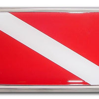 Dive Flag Car Emblem