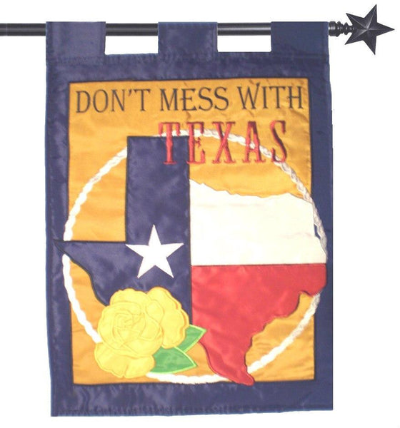 Dont Mess with Texas Double Applique House Flag