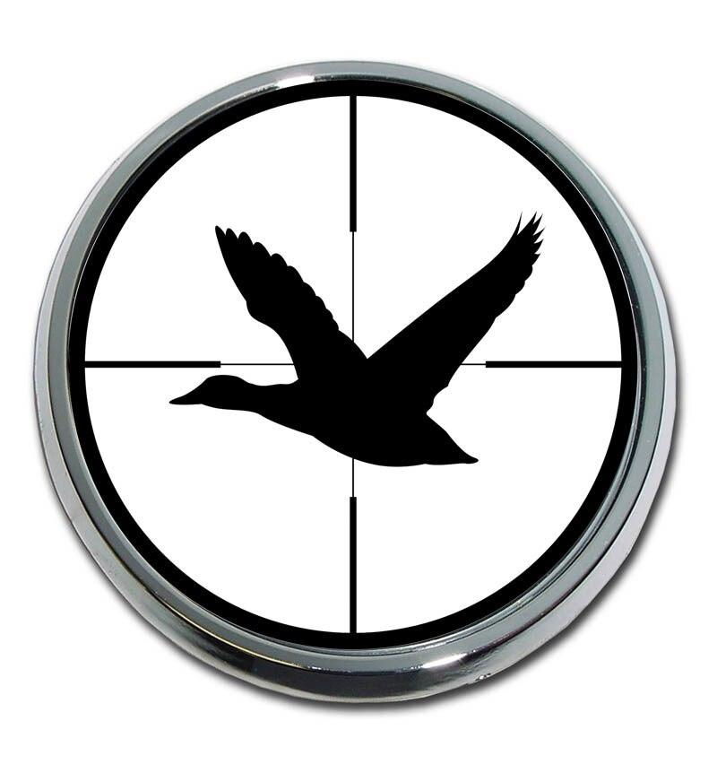 Duck Target Chrome Car Emblem