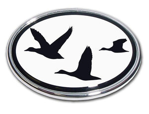 Duck Hunting Chrome Car Emblem