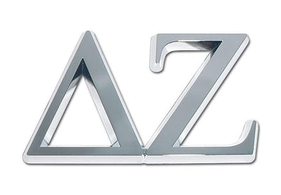 Delta Zeta Soroity Chrome Car Emblem