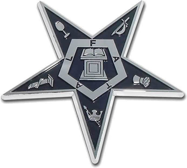 Eastern Star Chrome Car Emblem - Chrome Car Emblems | Trailer Hitch Covers/Masonic Car Emblems - I AmEricas Flags