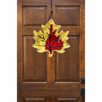 Fall Leaf Reversible Sequin Decorative Door Hanger