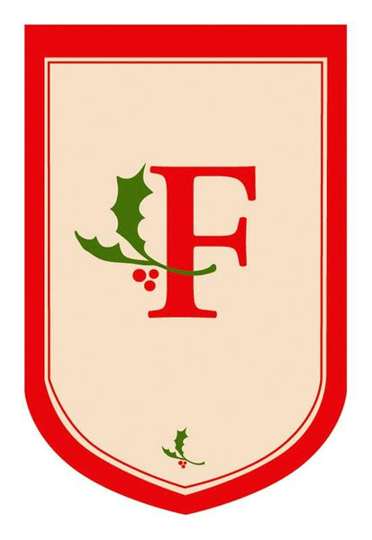 Holiday Monogram F House Flag