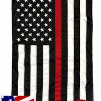 Firefighter Thin Red Line Black and White American House Flag 3x5 with Pole Sleeve