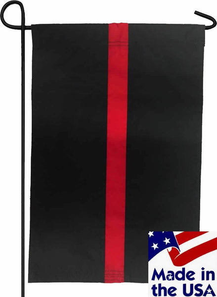 Firefighter Thin Red Line Sewn Nylon Garden Flag