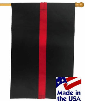Firefighter Thin Red Line Sewn Nylon House Flag