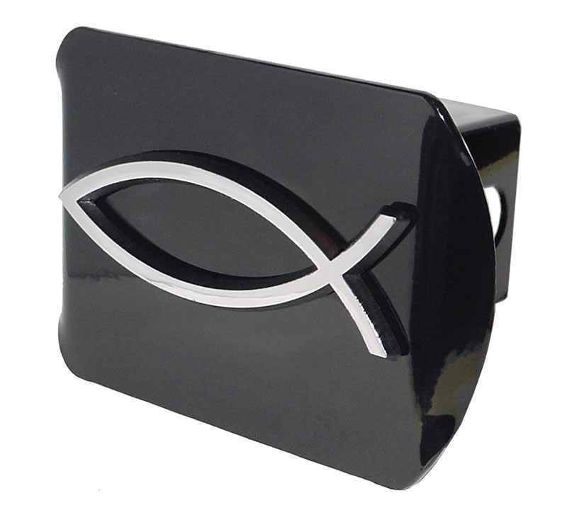 Christian Fish Black Hitch Cover