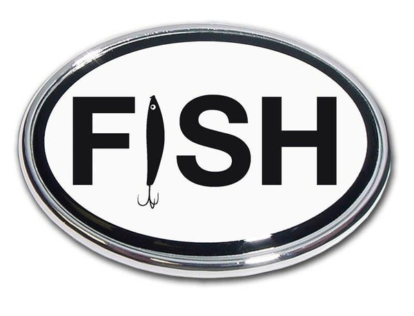 Fishing Chrome Car Emblem