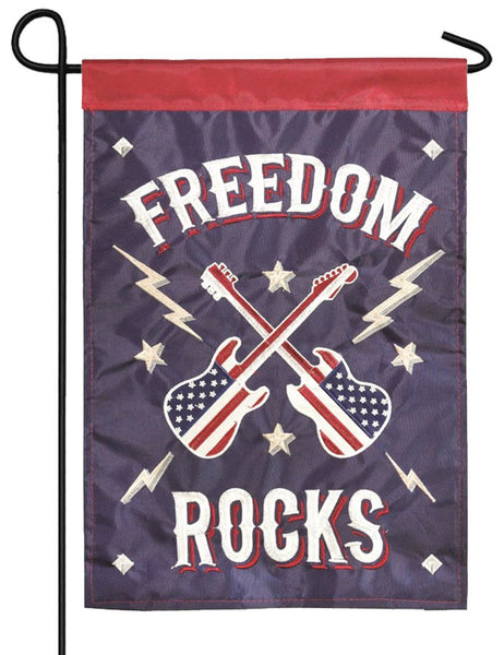 Freedom Rocks Double Applique Garden Flag - I AmEricas Flags