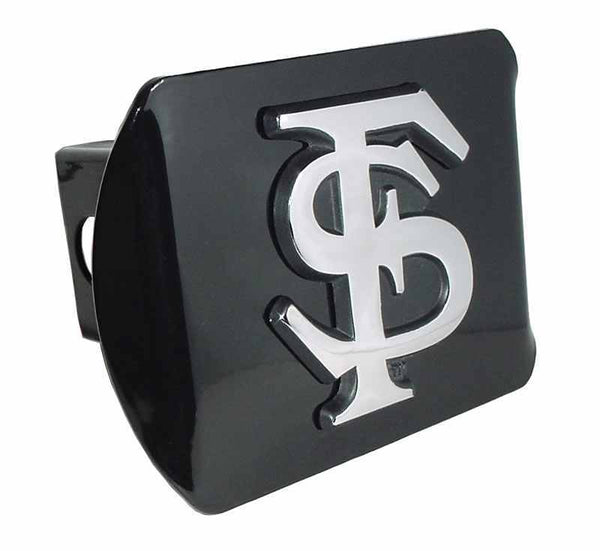 Florida State University Interlocking FS Black Hitch Cover