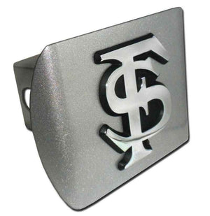 Florida State University Interlocking FS Brushed Chrome Hitch Cover